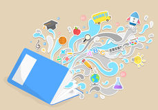 Vector education and leaning concept Royalty Free Stock Images