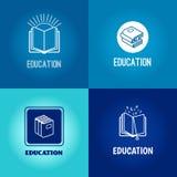 Vector education logo set Stock Photos