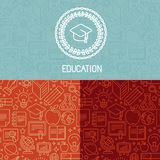Vector educational logo design Royalty Free Stock Images
