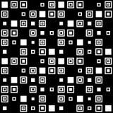 Vector eenvoudig geometrisch naadloos patroon in zwart-wit Stock Foto's
