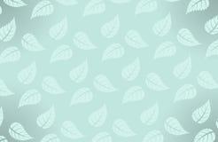 Vector eenvoudig Hawaiiaans patroon met bladeren Stock Afbeelding