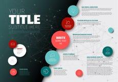 Vector Eenvoudig Infographic-rapportmalplaatje royalty-vrije illustratie
