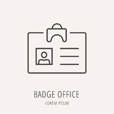 Vector Eenvoudig Logo Template Badge Office Stock Illustratie