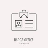 Vector Eenvoudig Logo Template Badge Office Stock Afbeeldingen