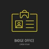 Vector Eenvoudig Logo Template Badge Office Stock Afbeelding