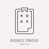 Vector Eenvoudig Logo Template Business Strategy Royalty-vrije Stock Fotografie