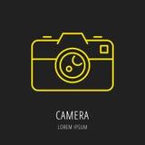 Vector Eenvoudig Logo Template Camera Royalty-vrije Stock Fotografie