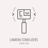 Vector Eenvoudig Logo Template Camera Stabilizers Royalty-vrije Stock Foto