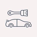 Vector Eenvoudig Logo Template Car Elements royalty-vrije illustratie