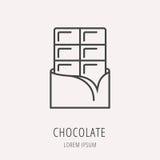 Vector Eenvoudig Logo Template Chocolate Stock Afbeelding