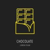 Vector Eenvoudig Logo Template Chocolate Royalty-vrije Stock Foto