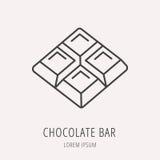 Vector Eenvoudig Logo Template Chocolate Bar Royalty-vrije Stock Afbeelding