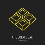 Vector Eenvoudig Logo Template Chocolate Bar Royalty-vrije Stock Foto's