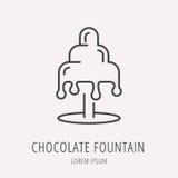 Vector Eenvoudig Logo Template Chocolate Fountain Royalty-vrije Stock Fotografie