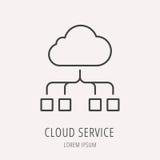 Vector Eenvoudig Logo Template Cloud Service Stock Afbeelding