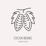 Vector Eenvoudig Logo Template Cocoa Beans stock illustratie