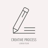 Vector Eenvoudig Logo Template Creative Process stock illustratie
