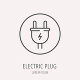 Vector Eenvoudig Logo Template Electric Plug Royalty-vrije Stock Foto