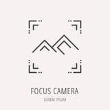 Vector Eenvoudig Logo Template Focus Camera Royalty-vrije Stock Foto's