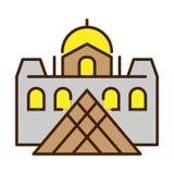 Vector Eenvoudig Logo Template Fortress Royalty-vrije Stock Fotografie