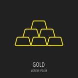 Vector Eenvoudig Logo Template Gold Stock Afbeelding