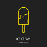 Vector Eenvoudig Logo Template Ice Cream Stock Foto's