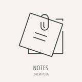 Vector Eenvoudig Logo Template Notes Stock Foto