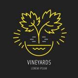 Vector Eenvoudig Logo Template Plant Grapes royalty-vrije illustratie