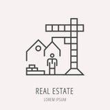 Vector Eenvoudig Logo Template Real Estate Royalty-vrije Stock Afbeelding