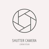 Vector Eenvoudig Logo Template Shutter Camera stock illustratie