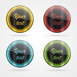 Vector eenvoudige etiketten Stock Foto's