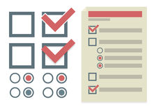 Vector eenvoudige ontwerpelementen voor om lijst te doen Stock Foto's