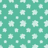 Vector Eenvoudige Palmate Bladeren die Patroon herhalen stock illustratie