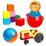 Vector eerste speelgoed. reeks 3 Stock Afbeelding