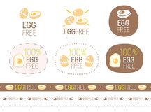 Vector egg free  sign set Royalty Free Stock Image