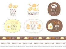Vector egg free sign set Stock Photography