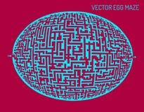 Vector egg illustration maze (labyrinth) Royalty Free Stock Image
