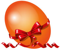 Vector egg with ribbon red Stock Photos