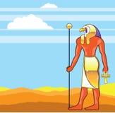 Vector egipcio Eagle Head Golden Vector de dios Imagen de archivo libre de regalías