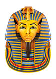 Vector Egypt Pharaon mask. Vector mask of Tutankhamun Pharoah Royalty Free Stock Photo