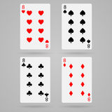 Vector eight cards Royalty Free Stock Image