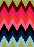 Vector eight color zig zag seamless pattern background. vector illustration