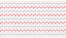Vector eindeloos patroon Rode roze en grijze takjeachtergrond Stock Afbeelding