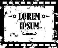 Vector einfarbigen alten Film, Film, Stehfilmfahne Stockfotografie