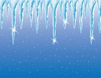 vector Eiszapfen und Schneefälle Stockbilder