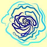 Vector, ejemplo, azul de la rosa, fondo amarillo, esplendor, fuerza, Ucrania, estilo ilustración del vector