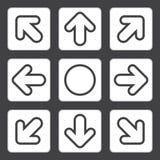 Vector, ejemplo, icono de la flecha para el trabajo creativo Imagen de archivo libre de regalías
