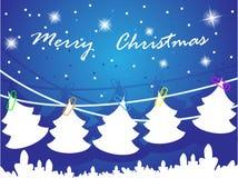 Vector el árbol de navidad Imágenes de archivo libres de regalías