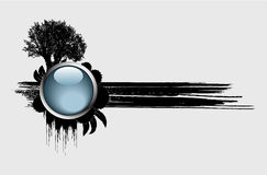 Vector el árbol y el botón Imágenes de archivo libres de regalías