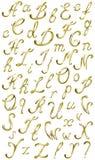 Alfabeto del oro del vector Foto de archivo libre de regalías